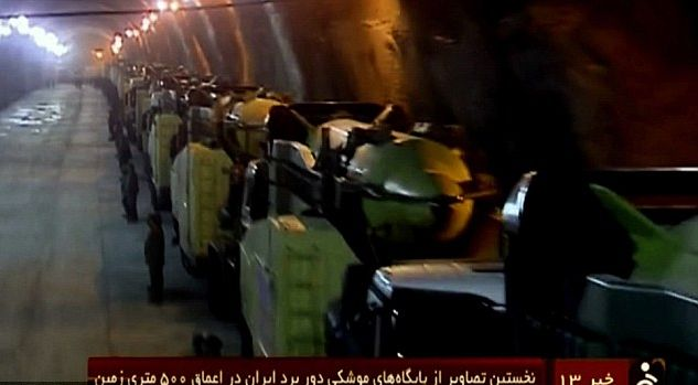 Iran säilöö ballistisia ohjuksiaan maanalaisissa kammioissa