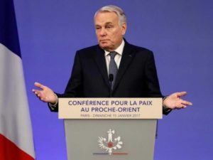 French Minister of Foreign Affairs and International Development Jean-Marc Ayrault at Paris Peace Conference, January 15, 2017 (Photo: Facebook)